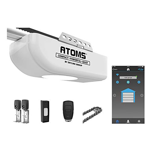 Atoms ATR-1611W by Skylink 1/2HPF Garage Door Opener Featuring Alexa with Extremely Quiet DC Motor,...
