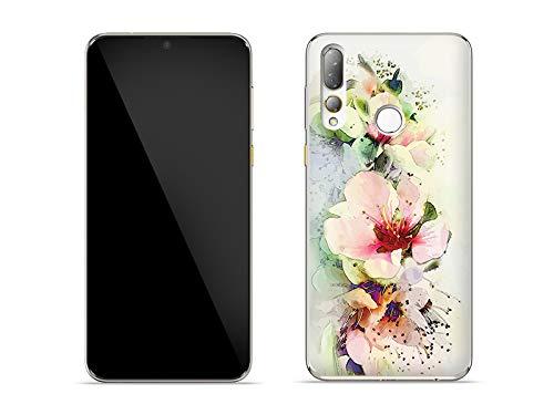 etuo Hülle für HTC Desire 19 Plus - Hülle Fantastic Hülle - Teerosen Handyhülle Schutzhülle Etui Hülle Cover Tasche für Handy