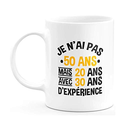 Taza de regalo para cumpleaños de 50 años – Taza para hombre y mujer humor original – Taza regalo cumpleaños hombre mujer humor original