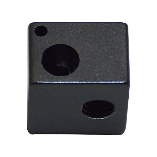 Drucker-Zubehör, 3 Stück, schwarz, 16 x 16 x 12 mm, Heiz-Aluminium-Block-Düse für 3D-Drucker