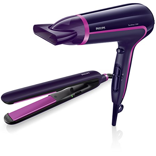 PHILIPS HP8640/50 - Set de secador y plancha de pelo
