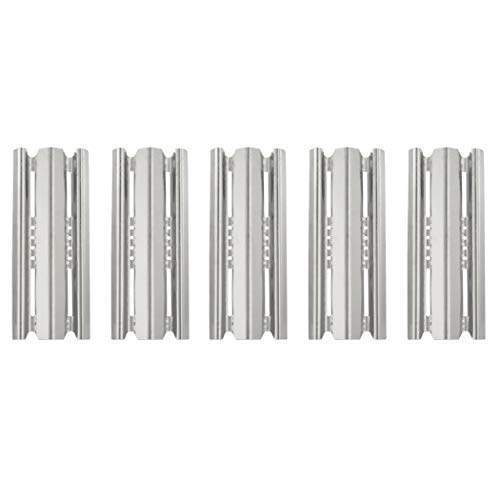 YIHAM KS741 Grill Heat Plate Replacement Parts for Broil King Baron 540 590, Broil-Mate, Huntington and Sterling Gas Grills, Stainless Steel Heat Shield 15 7/8 inch x 6 inch, Set of 5