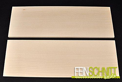 FEINSCHNITTkreativ Massivholz Ahorn 450 x 150 x 10 mm (2 Stück)