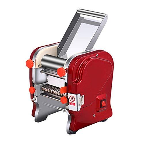 KAIBINY Pasta Machine 370W Commercial Electric Noodle Making Pasta Maker Cutting Machine Noodle Width 15CM Noodle Width 0.1mm / 20mm Manual Pasta Machines (Color : Red, Size : 42.5X27X22CM)