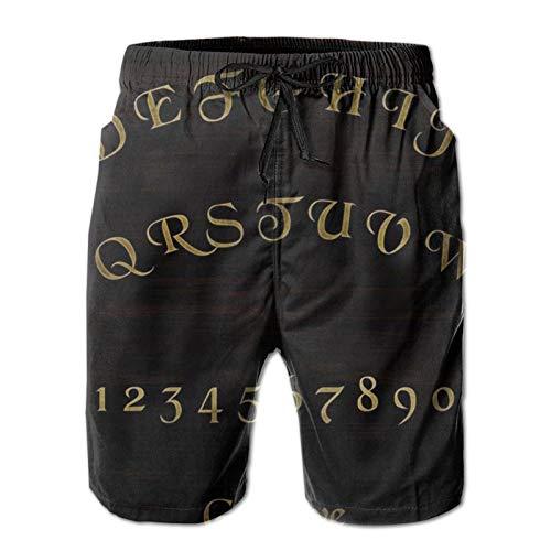 Bañador para hombre jugando con tu tabla Ouija Skull Beach Board Shorts