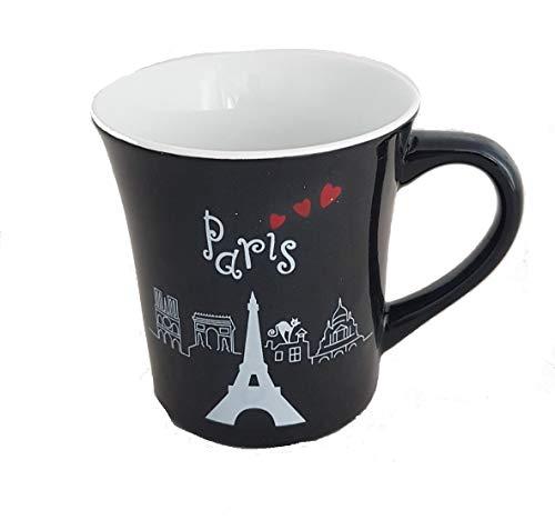 I Love Paris - Mug en Céramique - La Tour Eiffel - Noir - Boite Cadeaux