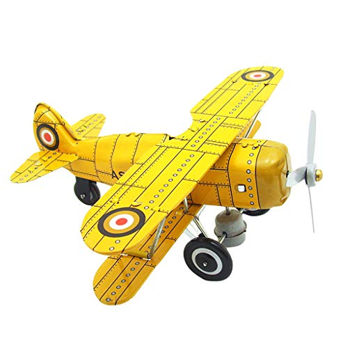 Conquror en Fer-Blanc chaîne nostalgique mécanique Jouet Photographie Prop modèle d'avion MS454 Cadeau d'anniversaire Jouets pour Enfants