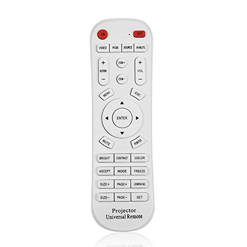 Vbestlife Control Remoto de TV, Reemplazo del Controlador de Control Remoto Universal para proyector, TV, STB (TDT/Satélite/Cable), BLU-Ray/DVD, Audio/Soundbars/Blanco