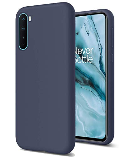 XunEda Liquid Silicone Soft Case Compatible with Oneplus Nord,Full Body Protection Shockproof Cover Case Drop Protection Case for Oneplus Nord Phone Cover (Navy)