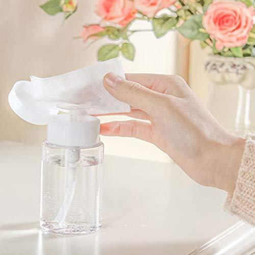 Sunnymi 1 flacon de pompe en plastique pour démaquillage, démaquillage, démaquillage, outil (100 ml-2 pièces, transparent).