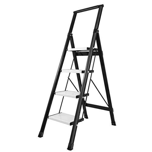 LRZLZY 4-Stufenleiter, tragbare Falten Heavy Duty Stehleitern, Aluminium-Mehrzweckküchentrittschemel mit Nicht Beleg-Matte, Zuhause/Küche/Garage Hocker (Color : B)