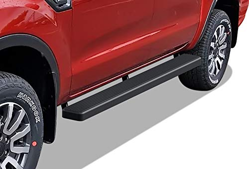 APS iBoard Running Boards 5 inches Matte Black Compatible with Ford Ranger 2019-2021 SuperCrew Cab 4-Door (Nerf Bars Side Steps Side Bars)