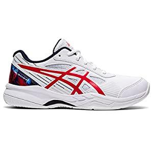 ASICS Kid's Gel-Game 8 GS L.E. Tennis Shoes, 6, White/Classic RED