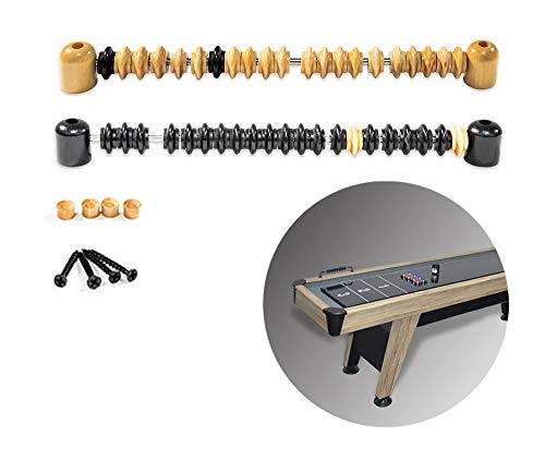 Shuffleboard Scorer for Shuffleboard Table Wooden Abacus-Style Shuffleboard Score Keeper/Counter, 2 Colors