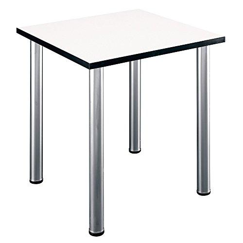 Bush Business Furniture Aspen Tables 28-1/2W Square Table in White Spectrum