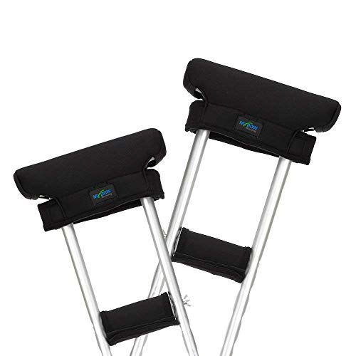 JHDPH3 Muleta Pad Covers bajo los Brazos Muletas Relleno Almohada Axilas y Grips manijas Cojines médico ortopédico muleta Accesorios de Repuesto (2 Set)