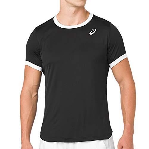 ASICS Camiseta para Hombre, Color Negro, Blanco, Talla S