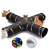 Best Cat Tunnels - 4 Way Cat Tunnels for Indoor Cats, Collapsible Review