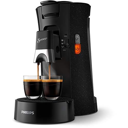 Philips CSA240/21 Machine à Café à Dosettes SENSEO Select, Intensity Plus, Crema Plus, Fonction Memo - Noir avec effet moucheté