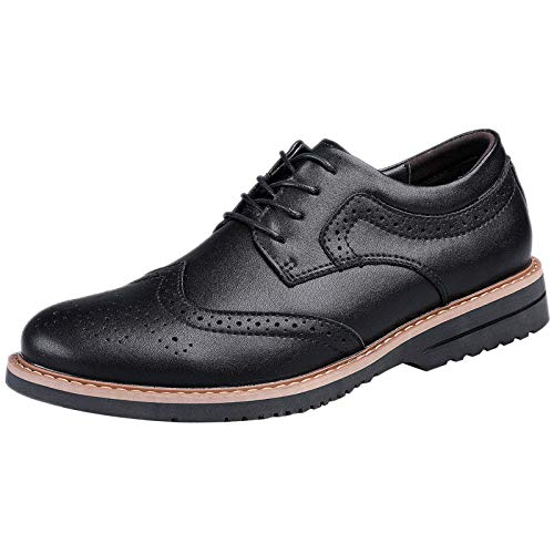 [SOARHOPE] カジュアルシューズ 本革 スエードシューズ メンズ ブーツ スウェード ショートブーツ レースアップ ビジネス 通勤用 ブロック ブロック ビジネスブラック 25.0cm
