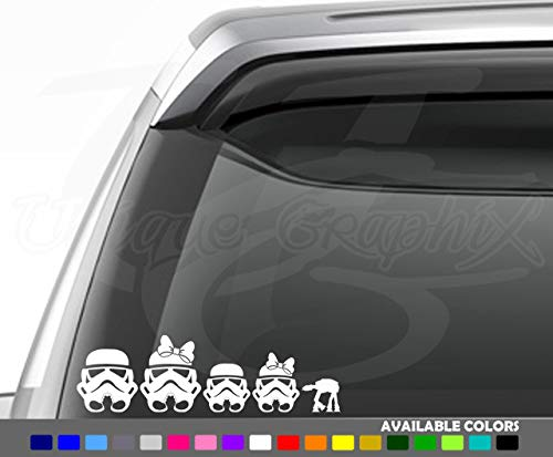 Unique Graphix - Stormtrooper Family Decal Car Window Sticker V1