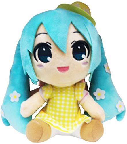 Kshong Anime Hatsune Miku Toy Hatsune Miku Series Snow Hatsune Miku muñeco de Peluche Suave Relleno 25cm muñeco de Peluche Suave para niños