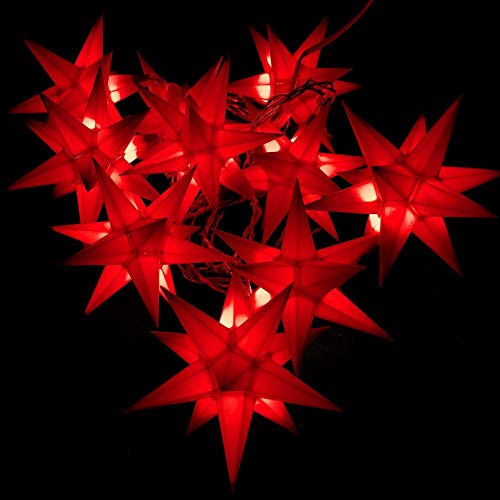 Importeur Pagoda GmbH Leuchtstern Starled 10er Lichterkette rot
