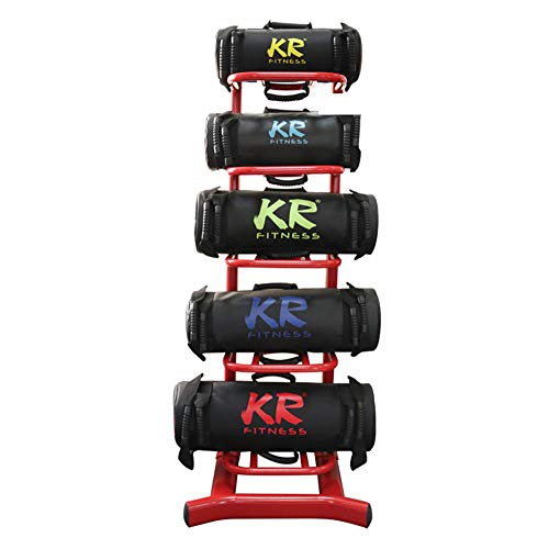 Topchances 5-30 kg Power Bag - Bolsa de arena profesional para entrenamiento funcional, ejercicios de peso pesado, entrenamiento de levantamiento, unisex (negro, 30 kg) ⭐