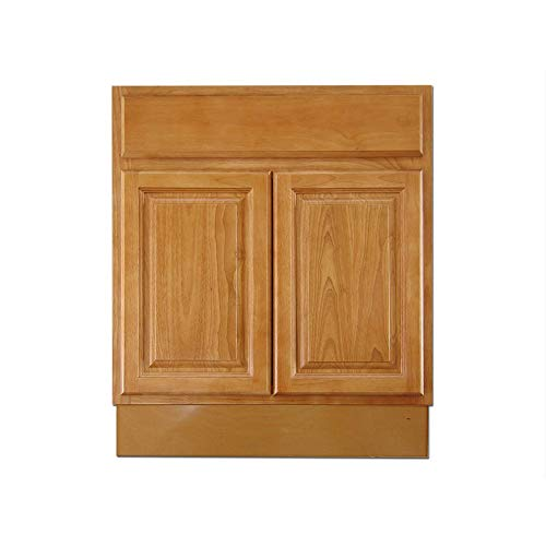 Thaweesuk Shop Natural 24 inch Bathroom Vanity Shaker Traditional Drawers Cabinet Sink Base Bath Wall Oak Wood Solidwood Plywood 24' W x 31.5' H x 21' D of Set