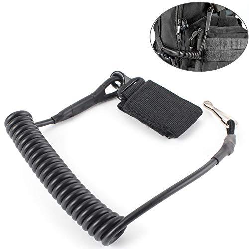 KINSUNG Einstellbare Taktische Pistole Lanyard Sling Elastische Handgürtelkette Sichere Feder