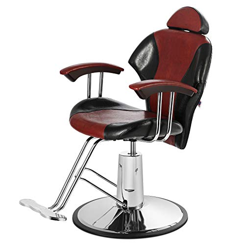 Artist Hand Barber Chairs, All Purpose Heavy Duty Reclining Hydraulic Hair Styling Chair for Barber Shop, Hair Salon, Salon Furniture Spa Shampoo Beauty Equipment, Max Load Weight 400Lbs