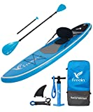 "Freein All Around Inflatable Stand Up Paddle Board W/Kayak Conversion Kit -10' 6"" Long, 31""..."