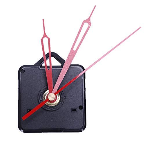 SODIAL 1 Juego Mecanismo De Movimiento De Cuarzo De Reloj De Pared Grande Silencioso Kit De ReparacióN De Manos Negras Y Rojas Juego De Herramienta con Gancho