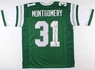 Wilbert Montgomery Autographed Signed Philadelphia Eagles Jersey InscribedHof 1987 PSA Coa