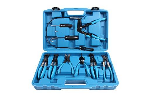 Kfz Dog - LLCTOOLS 9 teiliges Schlauchklemmen Zangen Set | Abklemmzange für Handwerker | Schlauchschellenzangen Satz | Spezialwerkzeug KFZ | Industriewerkzeug