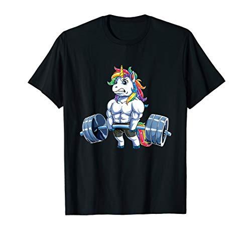 Unicorn Weightlifting - Fitness Gym Deadlift Men Women T-Shirt