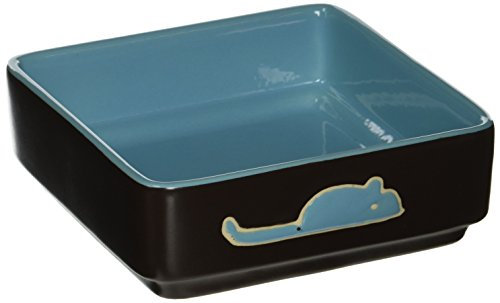 Ethical Pet Products (Spot) DSO6931 Stoneware 4-Square Cat Dish, 5-Inch, Blue