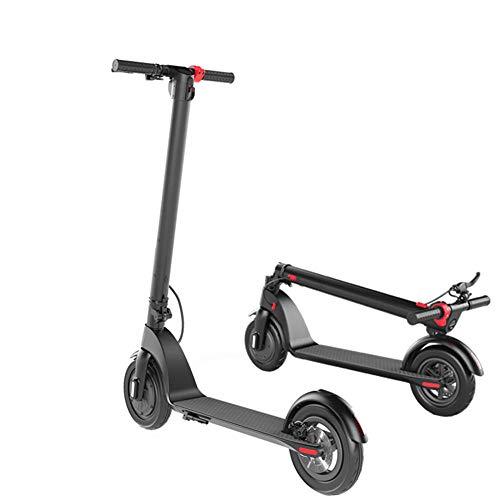 Scooter Electrico Adolescentes Y Adultos, 350 W, Patinete Eléctrico Inteligente de Alta Potencia, E-Scooter Plegable Portátil con Pantalla LCD,Puede Soportar 220 LB-Negro (8 Pulgadas)