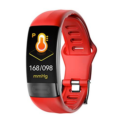 QKA ECG Smart Watch, Monitor De Ritmo Cardíaco Inteligente PPG Pulsera Inteligente, Pulsera De Reloj Inteligente Esfigmomanómetro para Android iOS,C