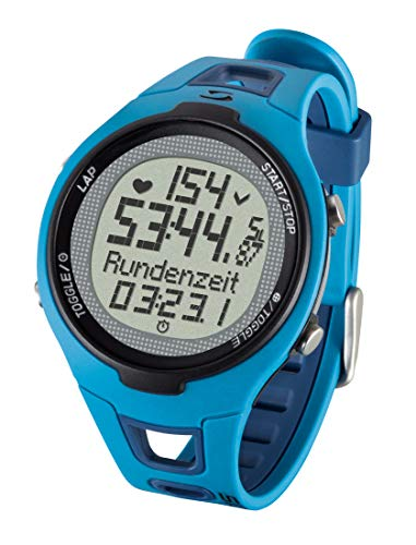 Sigma Sport Unisex Pulsuhr Pc 15.11 neues Design, Herzfrequenz mit Brustgurt, EKG genau, wasserdicht, Blue