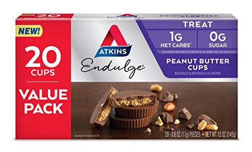 Atkins Endulge Treat Peanut Butter Cups. Rich Milk Chocolate Flavored Cup & Creamy Peanut Butter. Keto-Friendly. Value Pack (20 Pieces)
