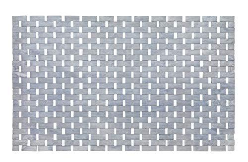 WENKO 22107100 Badematte Bamboo Grau - Unterseite rutschhemmend, Bambus