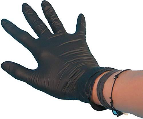 100 Latex Einweghandschuhe Einmalhandschuhe Latexhandschuhe Einweghandschuhe schwarz ungepudert/puderfrei im Spender Verschiedene Größen zur Auswahl (L/Large/groß)
