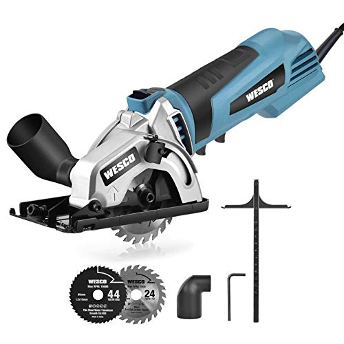 Mini Circular Saw, WESCO 500W 5100 RPM Compact Circular Saw...