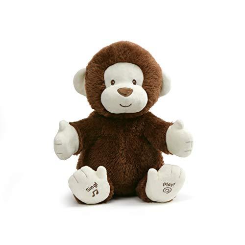 Baby GUND Animated Clappy The Monkey Stuffed Animal Plush, Brown, 12'