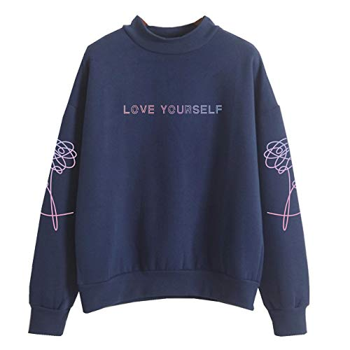 SERAPHY WOOKIT Unisex Kapuzenpullover Love Yourself Rollkragen Sweatshirts für Armee Suga Jimin Jin Jung Jook J-Hope Rap-Monster V königlich-P M