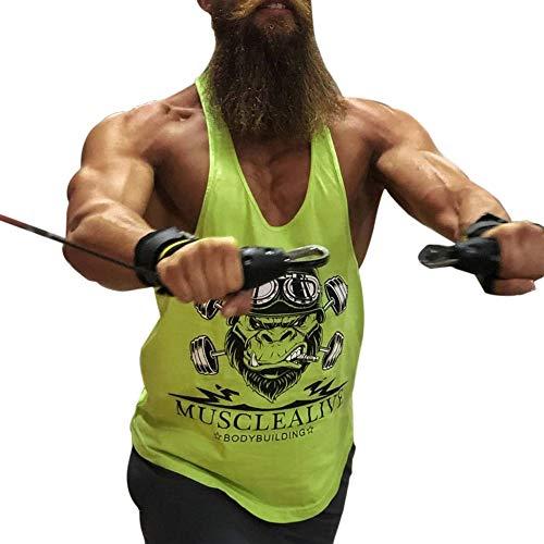 Made in leggero cotone 95% e 5% spandex o 100% cotone, progettato per la mens bodybuilding, allenamento e cestini per il fitness. Racerback, cinghie di spalla, circa 2 cm o 3 cm disponibili. Design profondo, grandi fori di braccio tagliati che rilasc...