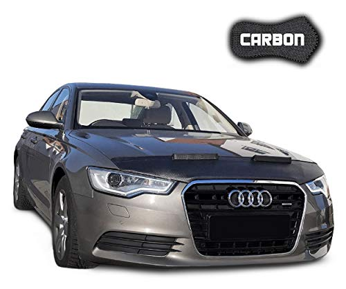 Black Bull Protector de Capo para Audi A6 C7 CARBON Protectores Capot Coche máscara Tuning NUEVO