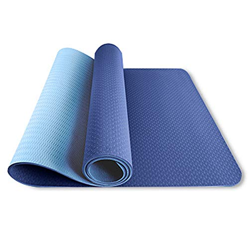 Mabor Alfombrilla de yoga de TPE con línea de posición antideslizante para principiantes, 183 x 61 x 0,6 mm