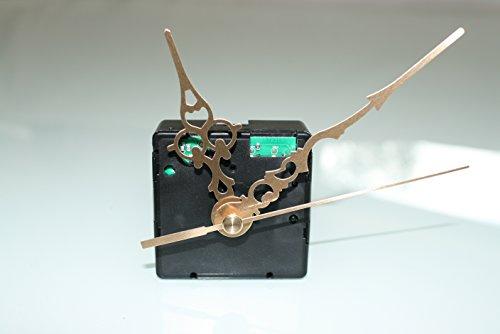 UTS Funkuhrwerk für Ziffernblatt 5-11mm mit Zeigersatz Metall gold klassisch